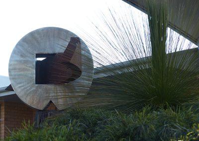 Garden Sculpture feature, Corangamarah Aged Care, Colac